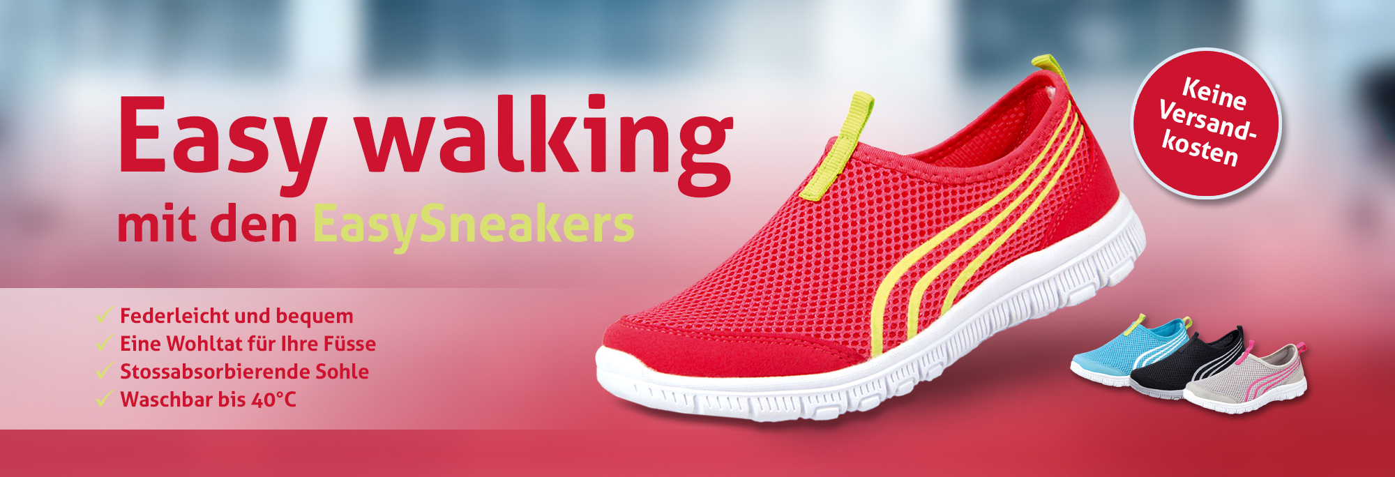 Easy walking mit EasySneakers